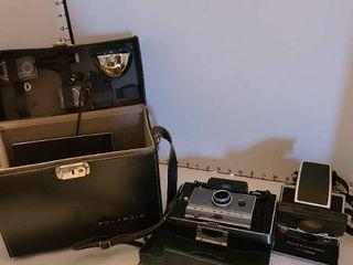 Assorted Polaroid cameras