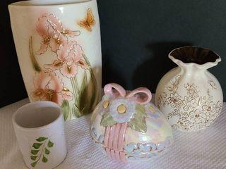 Vases and ceramic egg Decor
