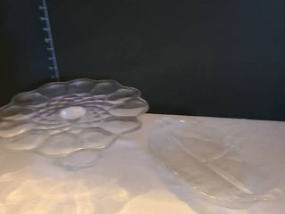 Glass cake plate and serving dish