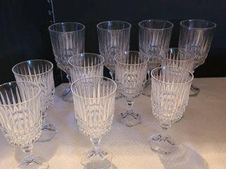 Set of 11 glasses