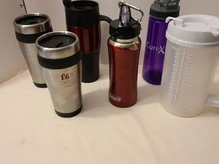 Assorted drinking vessels