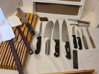 Kitchen knives  knife block and more