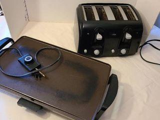 Sunbeam toaster and Presto electric griddle  Griddle has broken handle