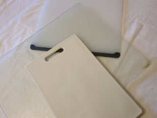 Three cutting boards  various sizes