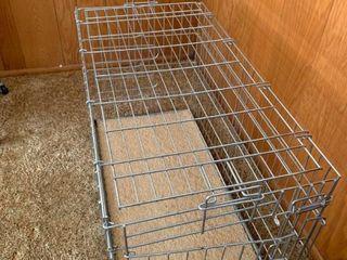 large metal dog crate 37X 18 X 22