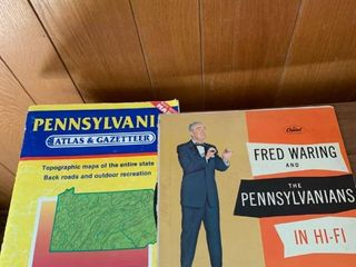 Pennsylvania Atlas and Fred Waring and the Pennsylvanians vinyl record