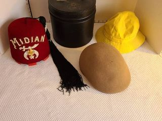 Midian Shriner s hat and more