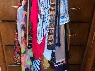ladies scarves on scarf hanger