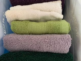 Assorted hand towels and washcloths