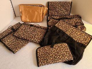 Variety of animal print makeup travel bags