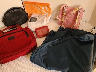Variety of bags and Buxton card holder