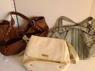 Three handbags