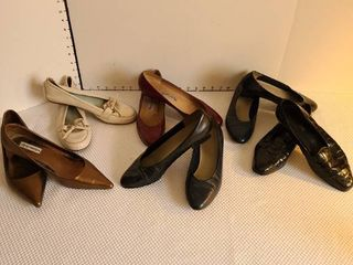 ladies shoes sizes 8 and 8 1 2  Six pairs