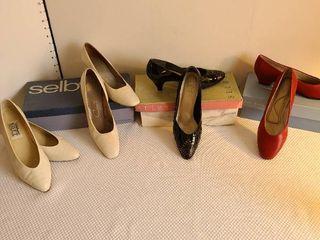 Four pairs ladies shoes size 8
