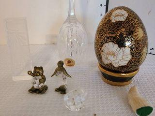 Sullivan s crystal bell  decorative egg and mini animals