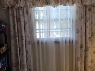 Curtains  valance and sheers