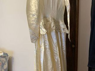 A vintage wedding gown  small  a tuxedo  46R And formal dress  small medium