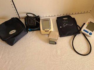Three blood pressure monitors