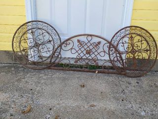 Metal yard or fence decor  3 pieces