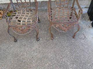 Miniature lawn decor chairs