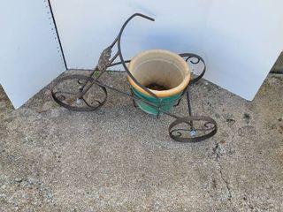 Tricycle plant pot holder lawn decor