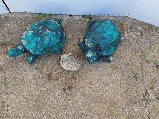 Turtle lawn decor statues one is concrete