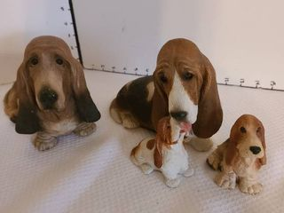 Basset hound statues