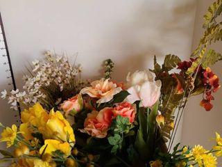 Assorted long stem artificial flowers