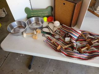 Assorted dog items