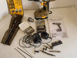Rockwell Shop Series Cordless drill driver and accessories