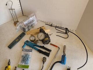 Pressure gage  rivet tool and more