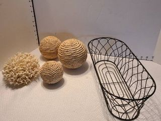 Wire basket and decor