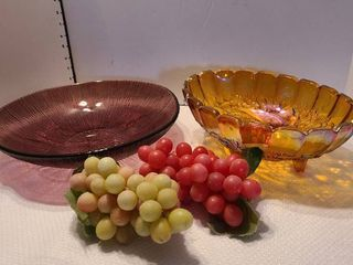 Bowls and faux fruit