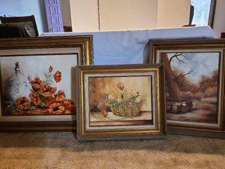 Framed art 34x29  24x20 and 22x26