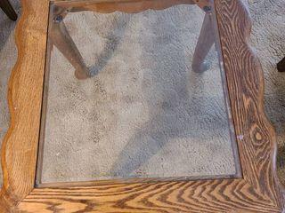 Oak side table 24x25