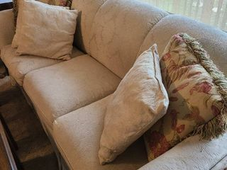 7 foot sofa with pillows