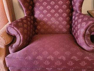 Wingback chair maroon