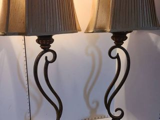 Matching table lamps 38 inches