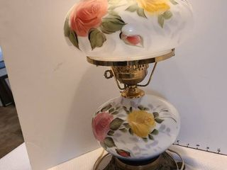 lamp with roses 20 inches