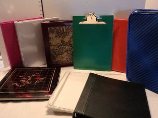 Various notebooks and photo albums with extra pages