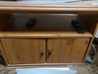 2 Door Wood TV Stand
