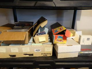lot of 5 boxes of various sports cards