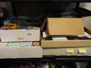 lot of 4 boxes of various sports cards
