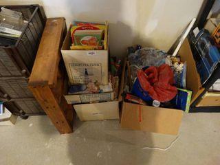 Wood wall shelf   misc  books