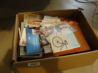 Box of assorted maps