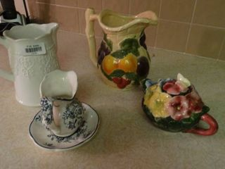 lot of Decorative Pitchers and Teapot