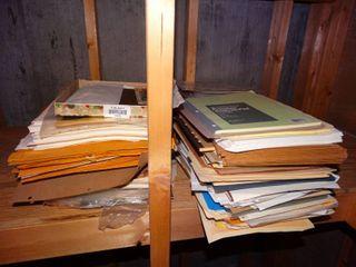 lot of notebooks   envelopes