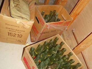 Box of antique RC cola   Nehi bottles