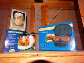 New in box mini chopper   food grill