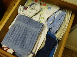lot of Washcloths and Kitchen Utensils